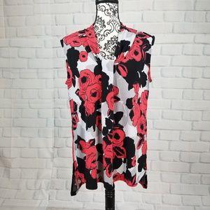 Dana Buchanan stretch knit floral print sz l top
